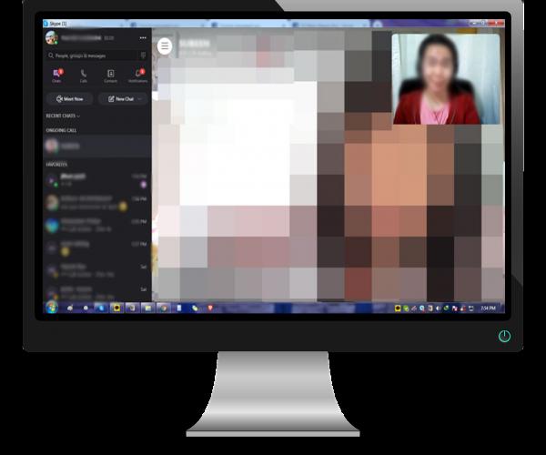 스카이프 화상영어 화면